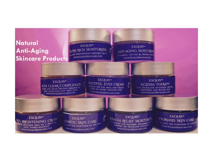 Natural anti-aging skincare products.